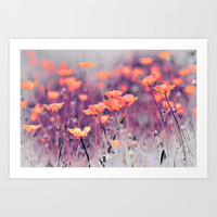 Summer Meadow. Art Print by Mary Berg