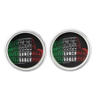 Rome Coliseum Italian Flag Cuff Links