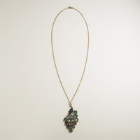 Peacock Pendant Necklace - World Market