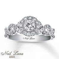 Neil Lane Engagement Ring 1 ct tw Diamonds 14K White Gold $145/mth with payment plan