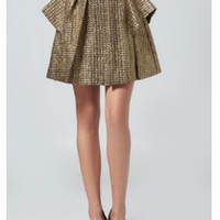 Gold Peplum Skirt