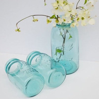 Vintage Blue Ball Perfect Mason Jar Large Half Gallon Size Canning Jar Wedding Décor Spring Home Decor