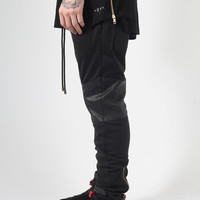 Leather Panelled Jogger