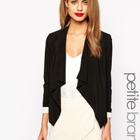 New Look Petite Waterfall Blazer at asos.com