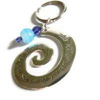 Inspirational Spiral Key Chain by PinkCupcakeJC on Etsy