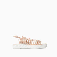 LEATHER FLATFORM SANDAL