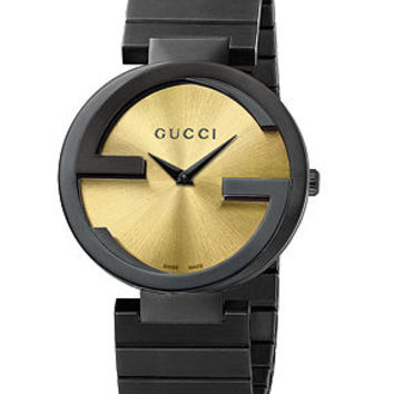 Gucci Women's Swiss Interlocking Latin Grammy® Special Edition Black PVD Bracelet Watch 37mm YA133314