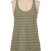 striped lightweight racerback tank