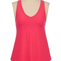 cross back slub knit swing tank