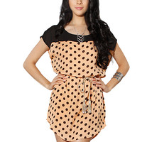 Papaya Clothing Online :: DOTTED WAIST ROPE MINI DRESS