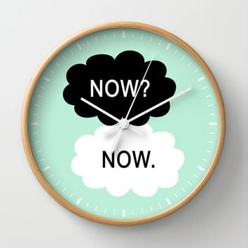 All We Have Is Now Wall Clock by BeautifulHomes | Society6