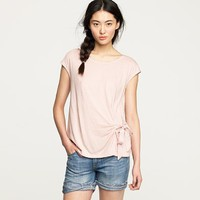 Women's new arrivals - tees & knits - Finespun tie tee - J.Crew