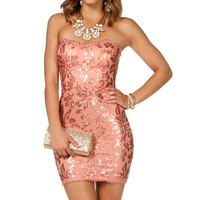 Libby-peach Short Prom Dress