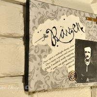 Edgar Allan Poe - Quoth The Raven Wall Hanging Canvas