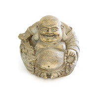 vintage laughing fat buddha statue bodhisattva by exoticargo