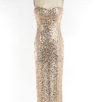 Flying Point Women's Gold Sequin Maxi