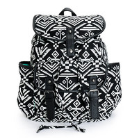 Empyre Emily Black & White Tribal Rucksack Backpack