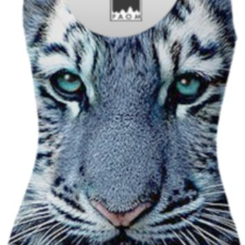 Blue Tiger Swimsuit created by ErikaKaisersot | Print All Over Me