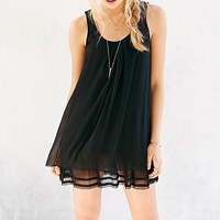 COPE Chiffon Tiered Ruffle Swing Dress - Urban Outfitters