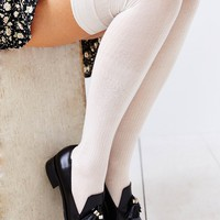 Lightweight Button-Rib Over-The-Knee Sock-