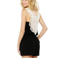 Papaya Clothing Online :: BACK LACY ROMPER