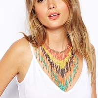 ASOS Triangle Fringe Necklace