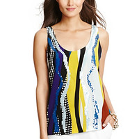 Jackie Embellished Silk Tank Top