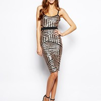 Lashes of London | Lashes of London Freya Sequin Midi Dress at ASOS