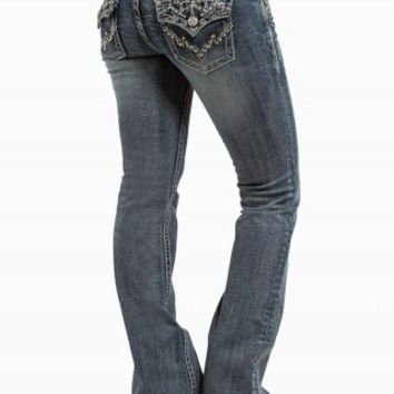 GRACE IN LA BOOT AZTEC JEANS
