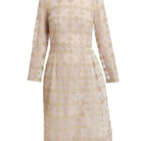 SIMONE ROCHA | Metallic Floral Embroidered Dress | Browns fashion & designer clothes & clothing