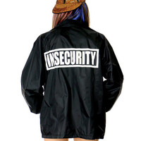 INSECURITY BLACK COACHES JACKET