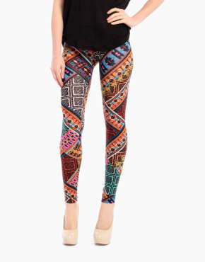 90s Tribal Leggings in Multi