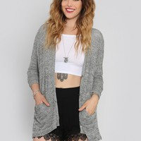 Static Dolman Cardigan