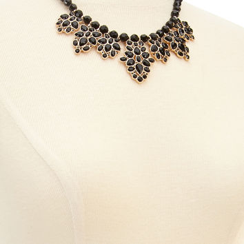 Beaded Faux Gemstone Necklace