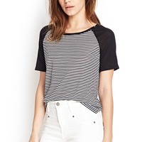 Soft Knit Striped Baseball Tee