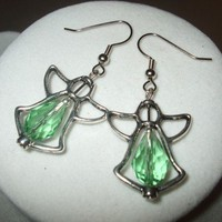 NEW Crystal Angel Frame Earrings | DesignsByAmyB - Jewelry on ArtFire