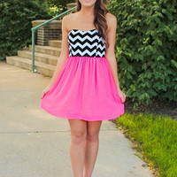Beauty Pop Dress - Neon Pink