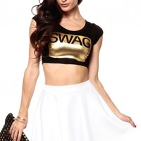 Got To Have Swag Crop Top @ Cicihot Top Shirt Clothing Online Store: Dress Shirt,Sexy Womens Shirt,T Shirts,Corset Dress,White T Shirt,Girl T Shirt,Short sleeve top