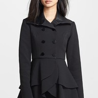 Hunter Bell 'Peppy' Textured Peplum Coat
