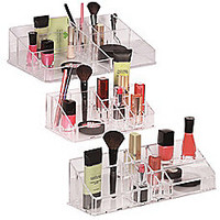 Richards Homewares Clear Multi-Compartment Cosmetic Organizers