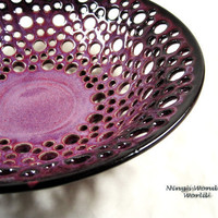 Fruit bowl / Lace bowl/ bread bowl/center by Ningswonderworld