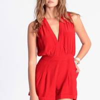 Janet Playsuit in Red by Motel - $82.00 : ThreadSence.com, Your Spot For Indie Clothing  Indie Urban Culture