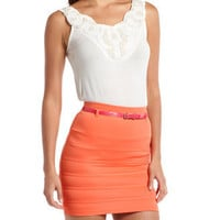 Charlotte Russe - Embellished Pearl & Sequin Tank