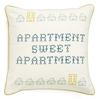 Nordstrom at Home 'Sweet Apartment' Embroidered Accent Pillow