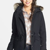 BP. Cinch Waist Cotton Parka (Juniors)