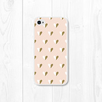 Blush Pink and Gold Heart iPhone Case - Gold iPhone 4 Case - iPhone 4s Case - Gold iPhone 5 Case iPhone 5s Case Pink and Gold iPhone 5c Case