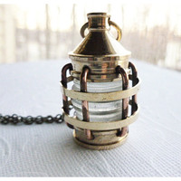 Lantern Necklace by Aqsa on Etsy