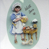 Greatest Baker - Hand-Crafted 3D Decoupage Card - With Love (1714)