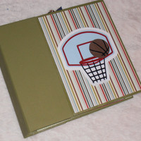 6x6 PreMade Basketball Chipboard Scrapbook Photo Album