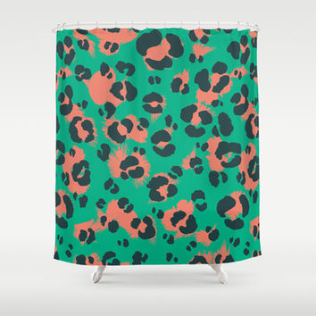 Leopard Print #1 Shower Curtain by Ornaart
